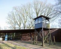 对kamp阿莫斯福特的入口与手表塔 免版税库存照片