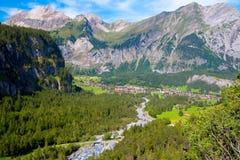 对Kandersteg的看法在瑞士 免版税库存图片