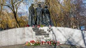对Katyn的受害者的纪念碑 库存图片
