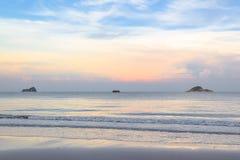 对Khaotao海滩的旅行 库存图片