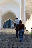 对Khiva的乌兹别克人朝圣 图库摄影