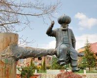 对Khodja Nasrudin,土耳其, Aksehir的纪念碑 免版税库存图片