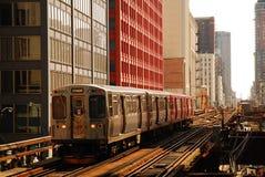 对Kimball,芝加哥的火车 免版税库存图片