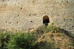 对Kokorin城堡墙壁的侧门  库存照片