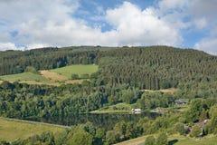 对Kronenburger的看法看见,埃菲尔山,德国 库存照片