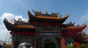 对Kwan Imm寺庙的门户 免版税图库摄影
