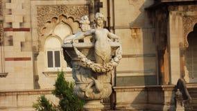 对Laxmivilash宫殿巴罗达的门 免版税图库摄影