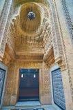 对Manial宫殿清真寺,开罗,埃及的入口 免版税库存照片