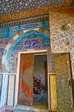 对Manial宫殿,开罗,埃及的招待会的入口 库存照片