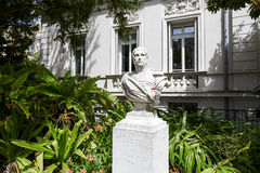 对Massena的雕象在尼斯,法国 库存图片