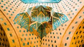 对Mazlumkhan苏禄省陵墓的看法在Mizdakhan, khodjeyli, Karaka 免版税库存照片