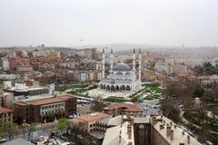 对Melike Hatun清真寺,安卡拉的一个看法 库存照片