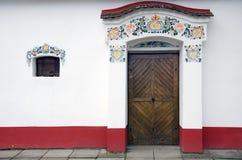 对moravian葡萄酒库的入口, Dolni Bojanovice 库存图片