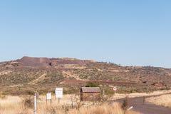 对Morokwa锰矿的入口 免版税库存照片