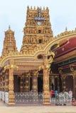 对Nallur Kandaswamy寺庙Kovil -贾夫纳斯里兰卡的入口 库存照片