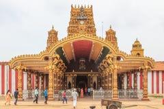 对Nallur Kandaswamy寺庙Kovil -贾夫纳斯里兰卡的入口 免版税库存图片