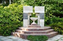 对Nikitsky植物园的工作者的纪念碑,死了 免版税库存图片
