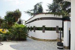 对nikitsky植物园,克里米亚的入口 免版税库存照片