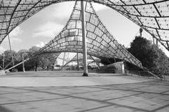 对Olympiapark的体育场的入口 免版税库存照片
