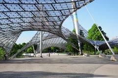 对Olympiapark的体育场的入口 库存图片