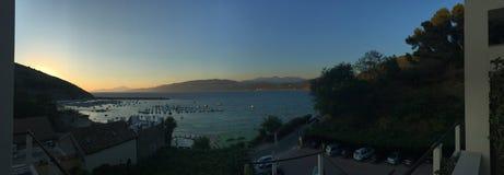 对palinuro tramonto的日落palinuro 免版税库存照片