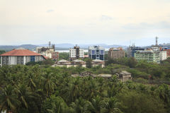 对Panjim市的鸟瞰图 免版税图库摄影
