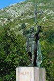 对Pelayo国王的纪念碑 免版税库存照片