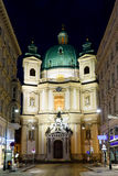 对peterskirche圣彼得教会的照片视图 库存照片