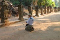 对Prasat Preah可汗的旅行 免版税库存图片