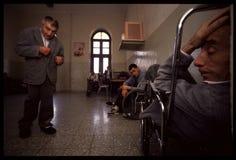 1992对Psychiatic医院的老照片 免版税图库摄影