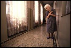 1992对Psychiatic医院的老照片 免版税库存照片