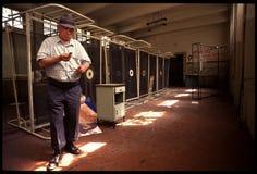 1992对Psychiatic医院的老照片 图库摄影