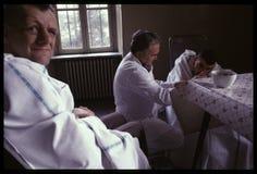 1992对Psychiatic医院的老照片 库存图片