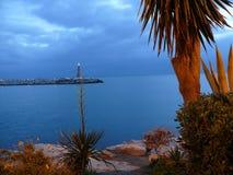 对Puerto Banus口岸的大门 库存照片