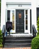 对Ristorante Marissa, Provincetown, MA的通道门环 免版税库存图片