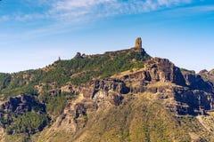 对Roque Nublo,大加那利岛,西班牙的看法 免版税库存图片