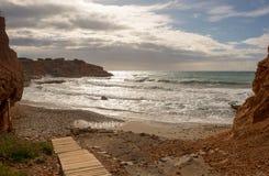 对sa cala caleta的门户在伊维萨岛 免版税库存图片