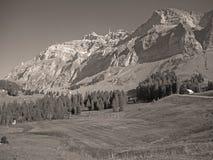 对Saentis,瑞士的看法 库存照片