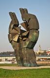对Sajmiste集中营的纪念的受害者的纪念碑在贝尔格莱德 塞尔维亚 库存图片