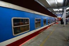 对Sapa的火车 火车站 河内 越南 免版税库存照片