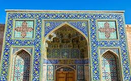 对Shah清真寺的门在伊斯法罕 免版税库存图片
