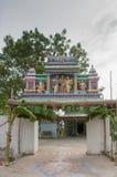 对Shani寺庙的入口门在Kadiapatti 免版税库存照片