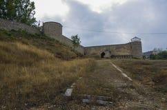 对Shushi堡垒的入口门 纳格尔诺-卡扎巴赫 免版税图库摄影