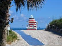 对Southpointe公园海滩的路 免版税库存图片