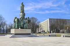 对Stanislaw Wyspianski,著名波兰艺术家,克拉科夫的纪念碑, 库存照片