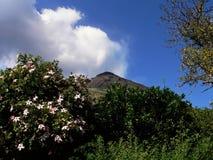 对Stromboli的视图 图库摄影