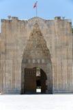 对Sultanhani商队投宿的旅舍的入口在丝绸之路, 图库摄影