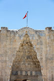 对Sultanhani商队投宿的旅舍的入口在丝绸之路 免版税库存照片