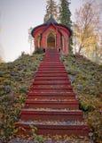 对summerhouse的台阶 免版税图库摄影