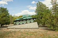 对T-34的纪念碑 图库摄影